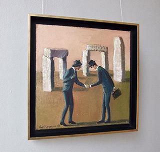Katarzyna Karpowicz : Businessmen : Oil on Canvas