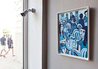 Krzysztof Kokoryn : Blue cafe : Oil on Canvas