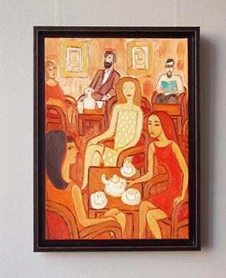 Krzysztof Kokoryn : Orange cafe : Oil on Canvas