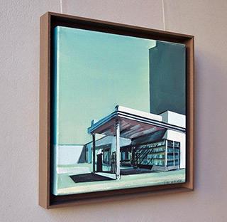 Maria Kiesner : Gas station No 1 : Tempera on canvas