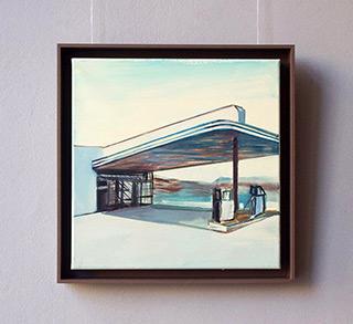 Maria Kiesner : Gas station No 2 : Tempera on canvas