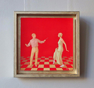 Mikołaj Kasprzyk : Lesson : Oil on Canvas
