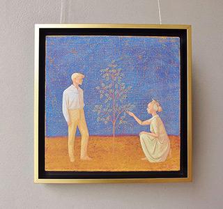 Mikołaj Kasprzyk : Tree care : Oil on Canvas