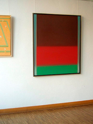 Anna Podlewska : Brown Red Green : Oil on Canvas