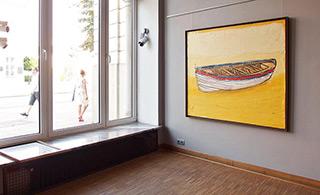 Jacek Łydżba : Boat on the shore : Oil on Canvas