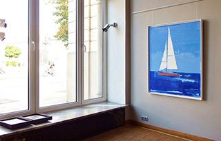 Jacek Łydżba : Sailboat : Oil on Canvas