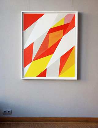 Joanna Stańko : Attempt to balance of yellow and orange : Oil on Canvas