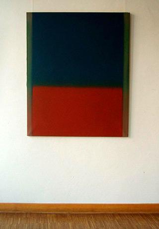 Anna Podlewska : Dark Blue and Dark Red : Oil on Canvas