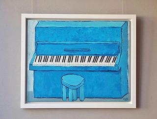 Krzysztof Kokoryn : Blue piano : Oil on Canvas