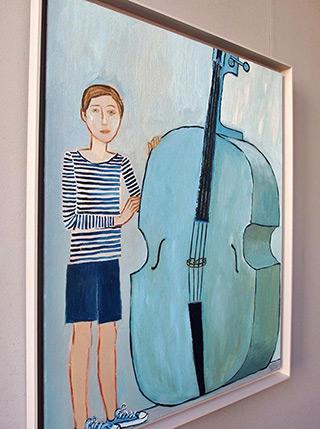 Krzysztof Kokoryn : Boy with double bass : Oil on Canvas