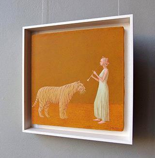 Mikołaj Kasprzyk : Lady with a tiger : Oil on Canvas