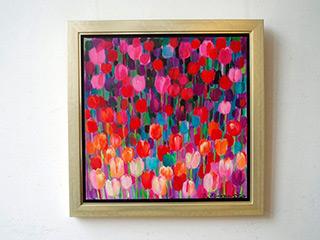 Beata Murawska : Purple Tulips : Oil on Canvas