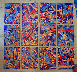 Edward Dwurnik : Abstract painting No 377 : Oil on Canvas