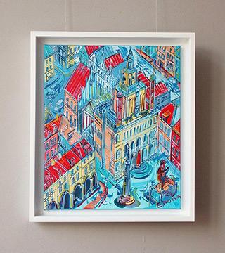 Edward Dwurnik : Poznań Old town square : Oil on Canvas