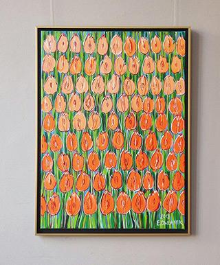 Edward Dwurnik : Tulip mix : Oil on Canvas