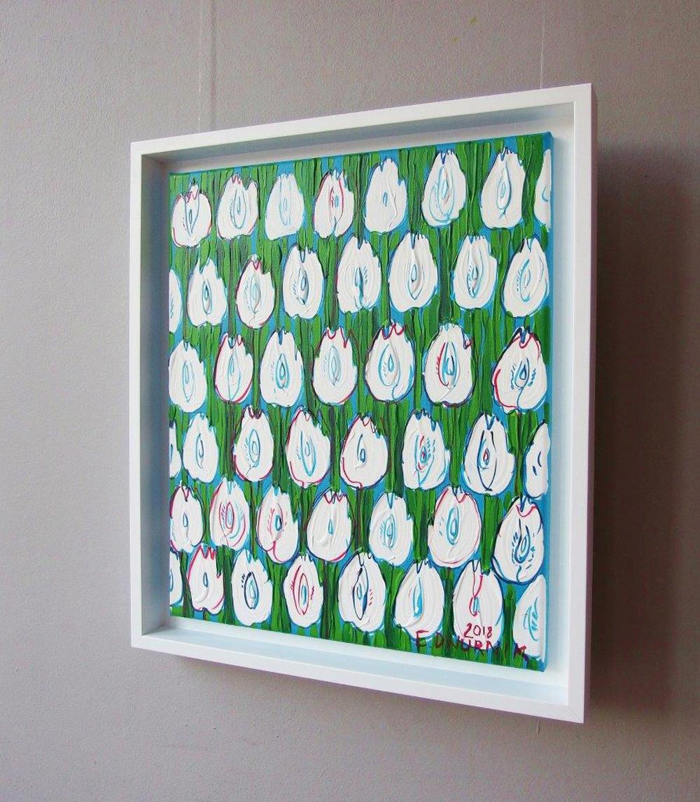 Edward Dwurnik : White tulips
