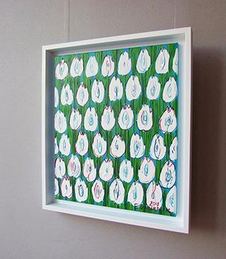 Edward Dwurnik : White tulips : Oil on Canvas