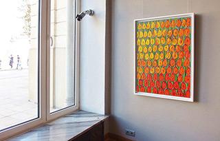 Edward Dwurnik : Yellow-orange tulips : Oil on Canvas