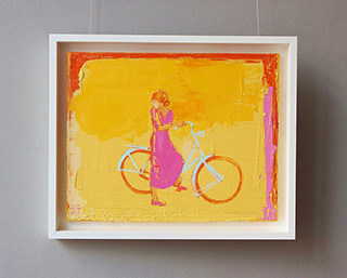 Jacek Łydżba : Cyclist No 2 : Oil on Canvas