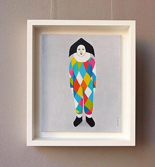 Katarzyna Castellini : Pierrott : Oil on Canvas
