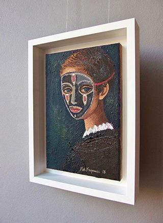 Katarzyna Karpowicz : Boy in the mask : Oil on Canvas