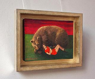 Katarzyna Karpowicz : Girl and bear : Oil on Canvas