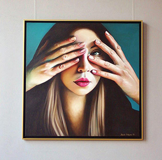 Katarzyna Kubiak : Guardian hands : Oil on Canvas