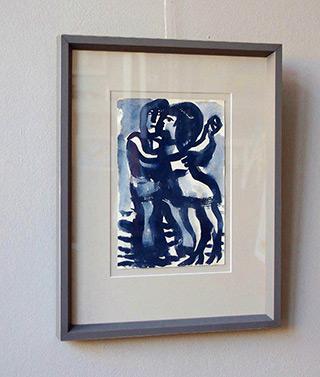 Krzysztof Kokoryn : Couple in dance No 3 : Guache on paper