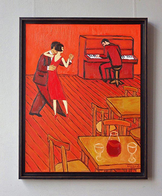 Krzysztof Kokoryn : Red interior : Oil on Canvas