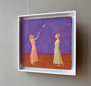 Mikołaj Kasprzyk : Two ladies : Oil on Canvas