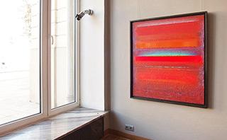 Sebastian Skoczylas : Blue ray : Oil on Canvas