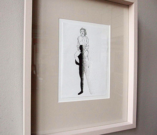Magdalena Sawicka : Touch XXX (30) : Ink on paper