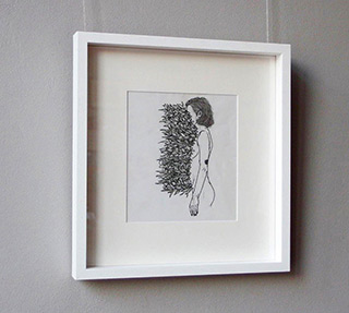 Magdalena Sawicka : Touch XXXV (35) : Ink on paper
