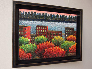 Adam Patrzyk : Above the park and river : Oil on Canvas