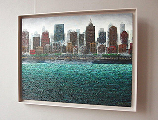 Adam Patrzyk : City by the river : Oil on Canvas