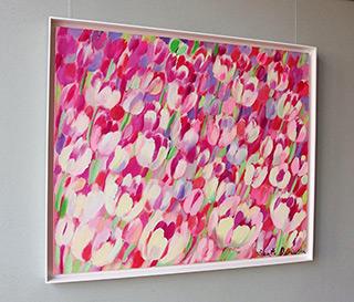 Beata Murawska : Pink tulips : Oil on Canvas