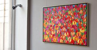 Beata Murawska : Tulip field : Oil on Canvas