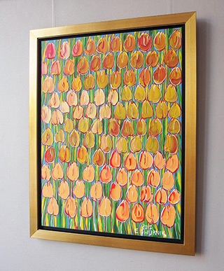 Edward Dwurnik : Only tulips : Oil on Canvas