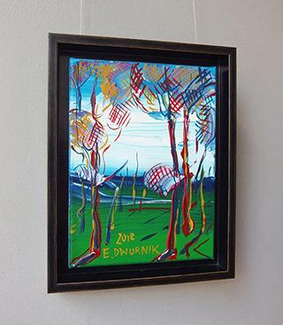 Edward Dwurnik : Sosny na wietrze : Oil on Canvas