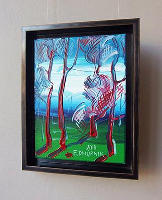 Edward Dwurnik : Sosny o poranku : Oil on Canvas