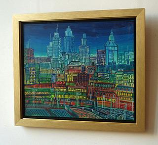 Edward Dwurnik : Warsaw View : Oil on Canvas