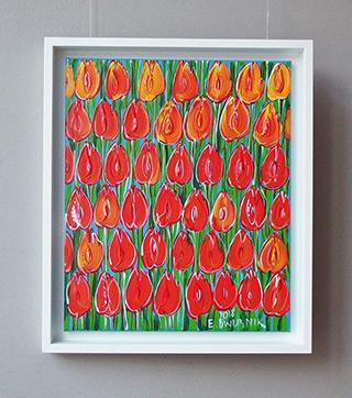Edward Dwurnik : Sunny tulips : Oil on Canvas