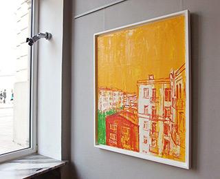 Jacek Łydżba : City in the summer : Oil on Canvas