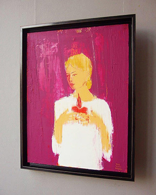 Jacek Łydżba : Saint Clara : Oil on Canvas