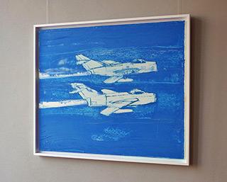 Jacek Łydżba : Two jets : Oil on Canvas