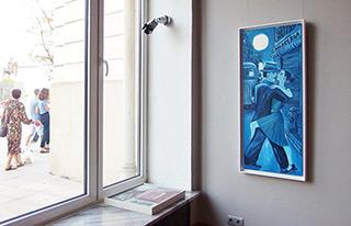 Krzysztof Kokoryn : Tango in the street : Oil on Canvas