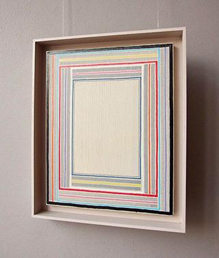 Łukasz Majcherowicz : Curtain : Oil-resin technique on canvas