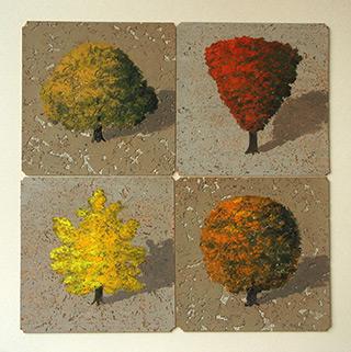 Dariusz Mlącki : Four Seasons : Oil on Canvas