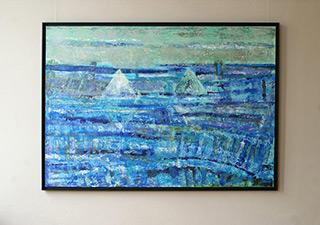 Martyna Merkel : Blue landscape : Oil on Canvas