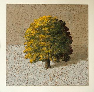 Dariusz Mlącki : Spring Tree : Oil on Canvas